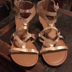 New Lane Bryant gold sandals